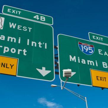 De luchthaven van Miami